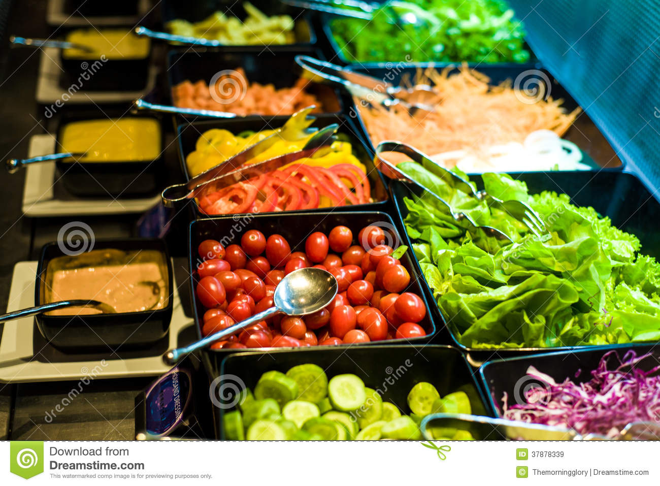 Salad bar with vegetables in the restaurant royalty free for Food bar health