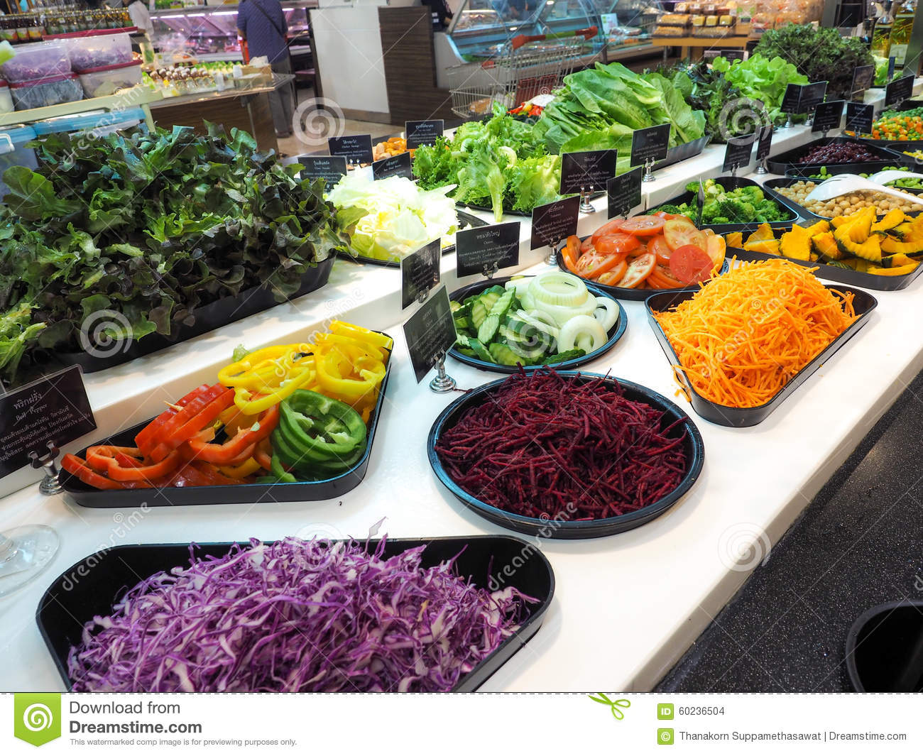 Salad bar with vegetables in the restaurant healthy food for Food bar health