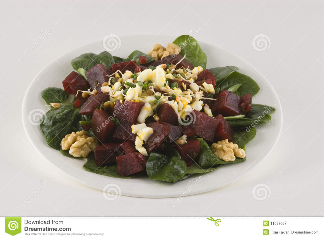 ... Free Stock Photography: Salad with beets, boiled egg, and bean sprouts
