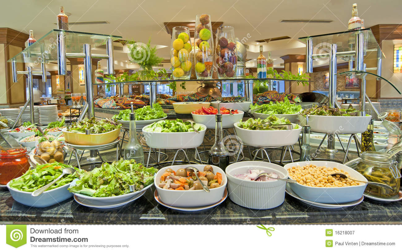 salad buffet in a luxury hotel restaurant royalty free. Black Bedroom Furniture Sets. Home Design Ideas