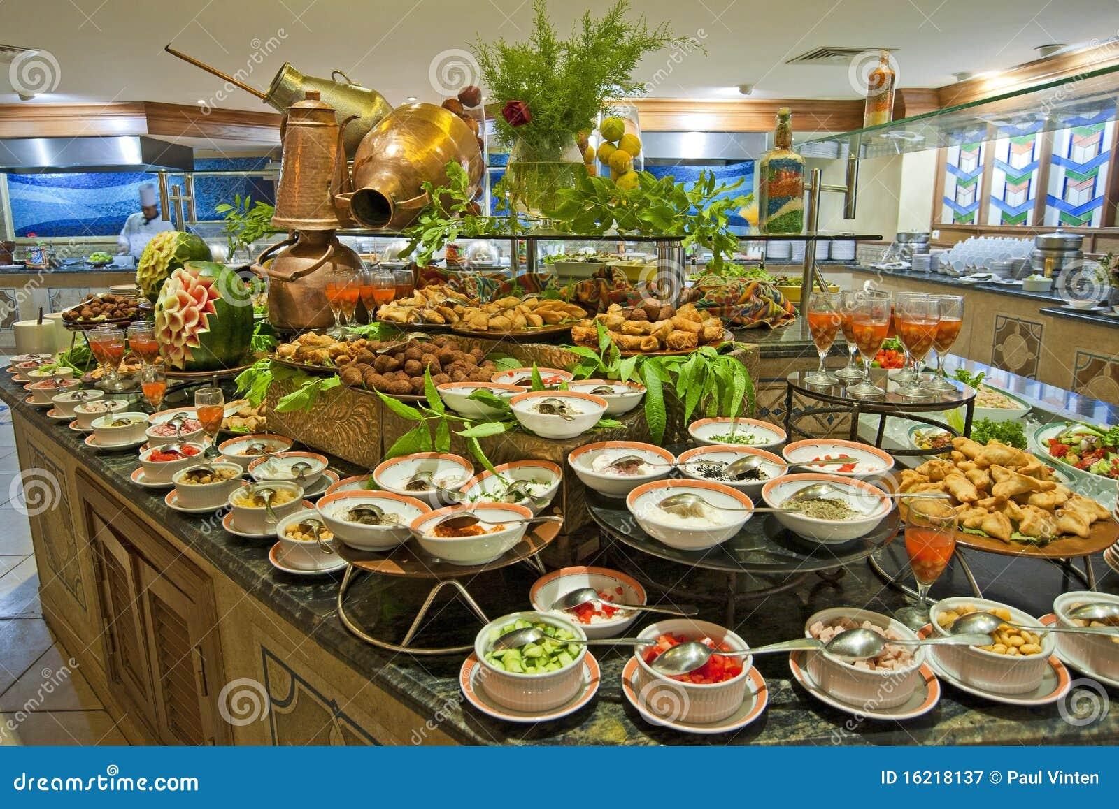 Salad Buffet In A Luxury Hotel Restaurant Royalty Free