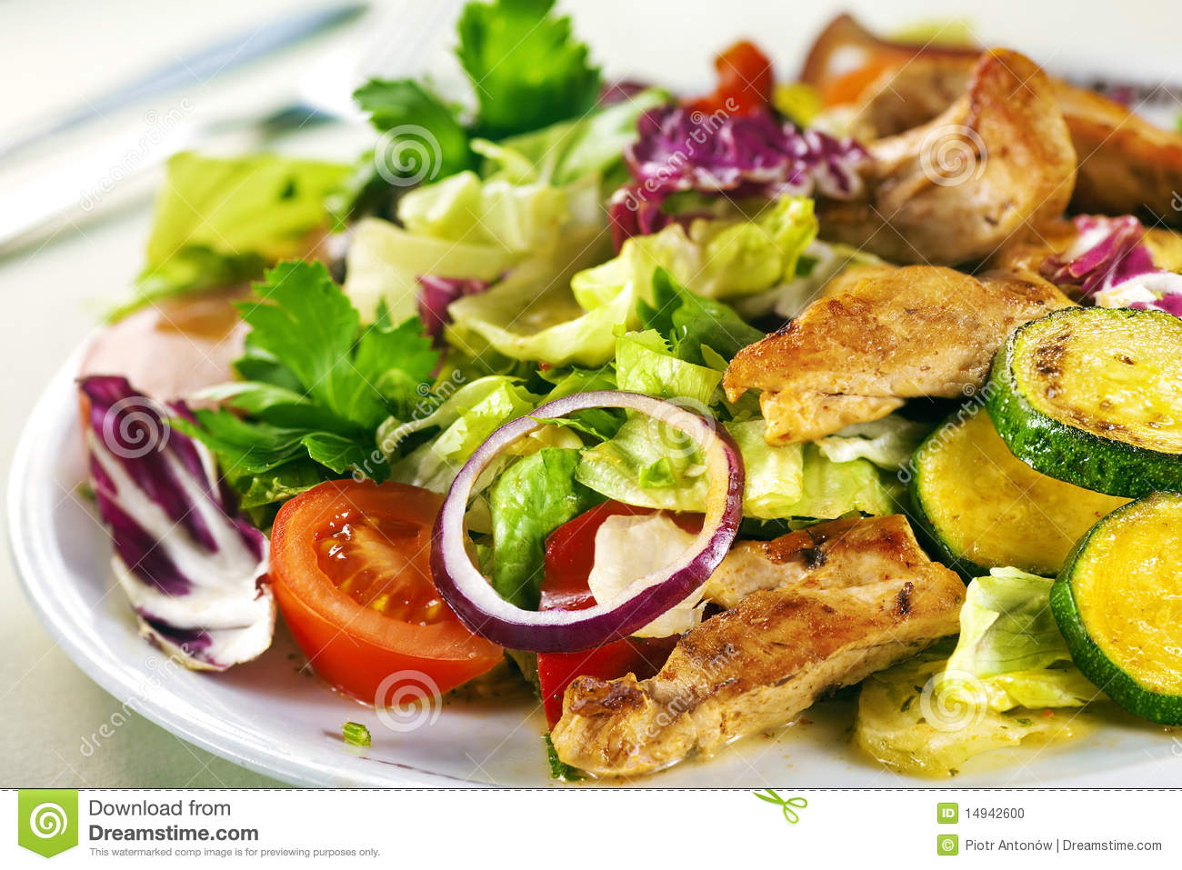 Salad with chiken
