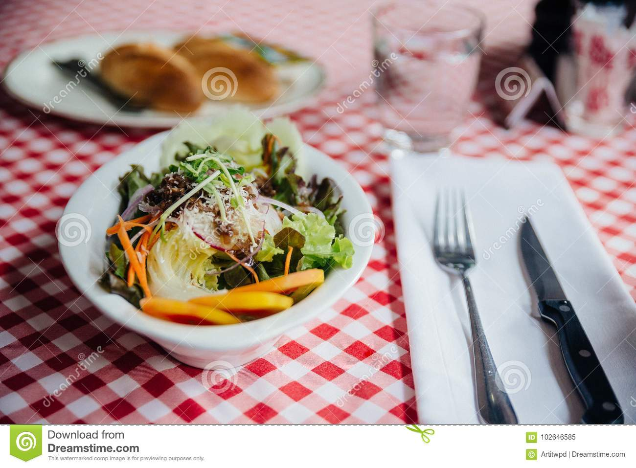 Download Salad Dish Including Cucumber, Tomato, Lettuce, Cabbage, Carrot, Red Oak, Shallot, Wild Rocket Topping With Mozzarella Cheese. Stock Image - Image of carrot, herbs: 102646585