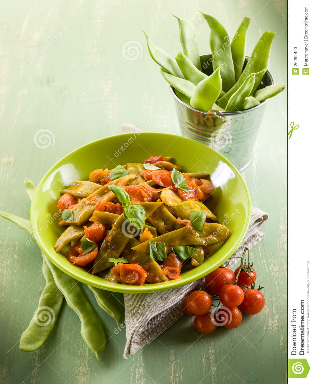 how to prepare green beans salad