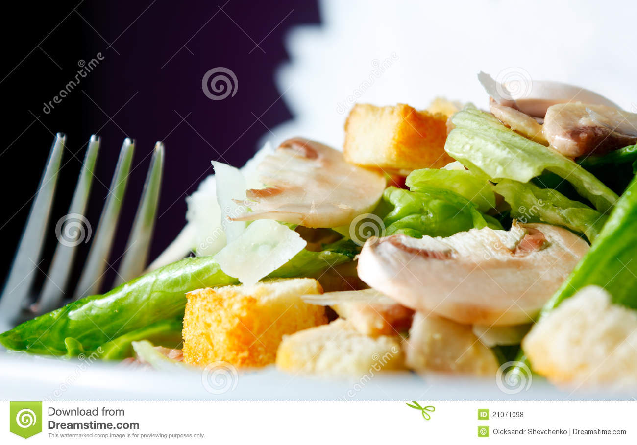 Royalty Free Stock Photos: Salad of fresh mushrooms