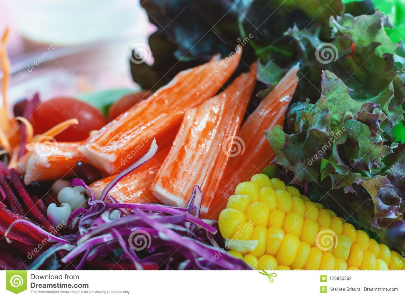salad fresh vegetables for diet and heathy eating stock photo