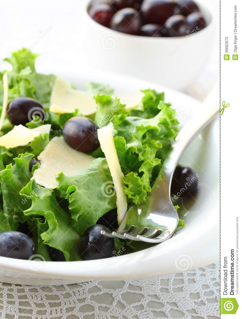 Stock Photos: Salad with grapes and cheese
