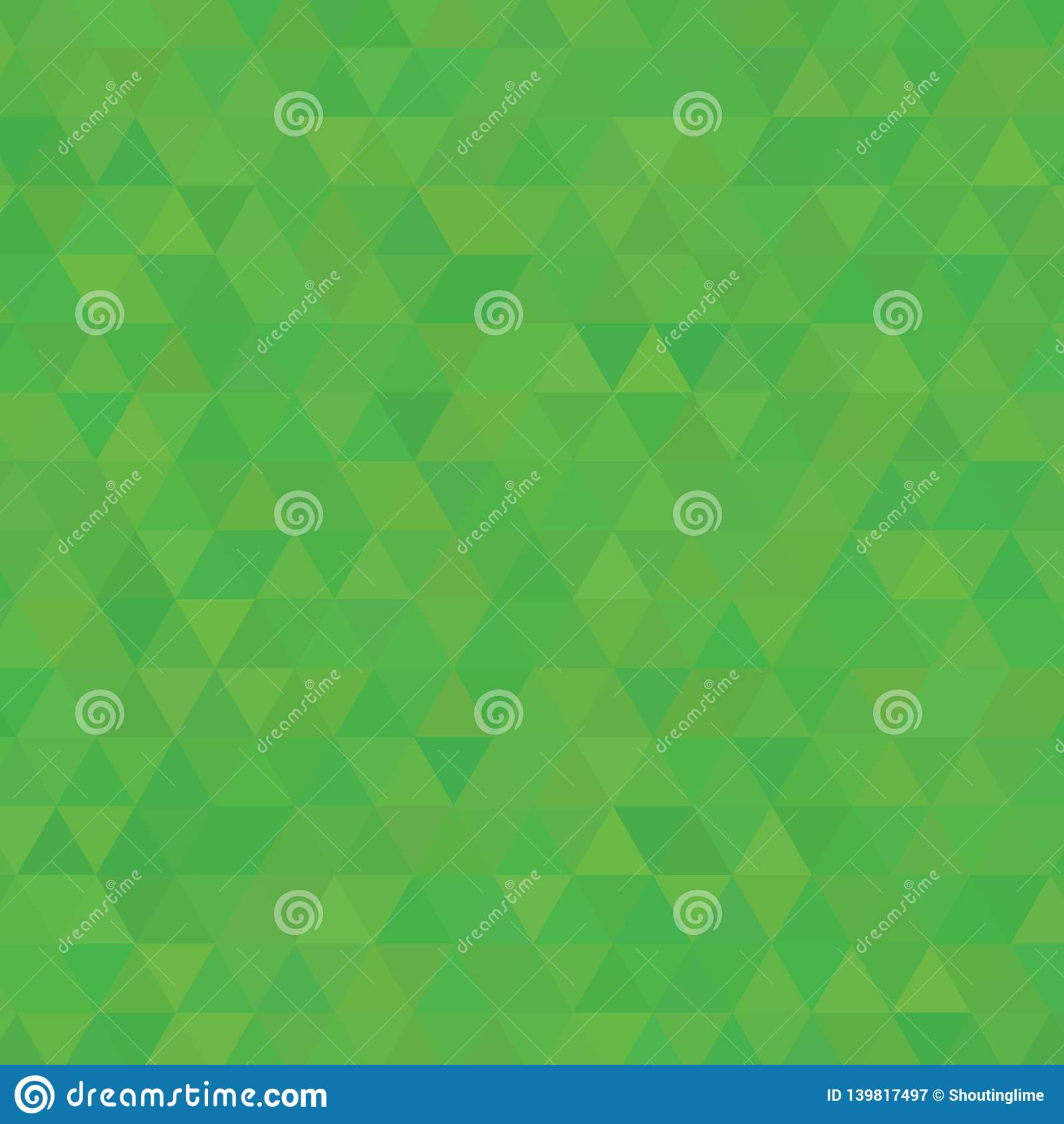 Salad Green Shades Background Square of Triangles