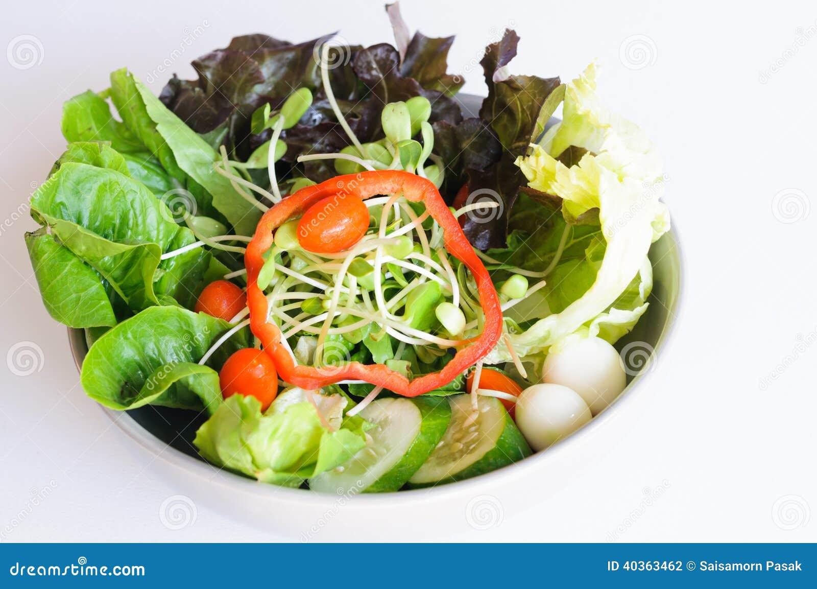 Salad mix eggs