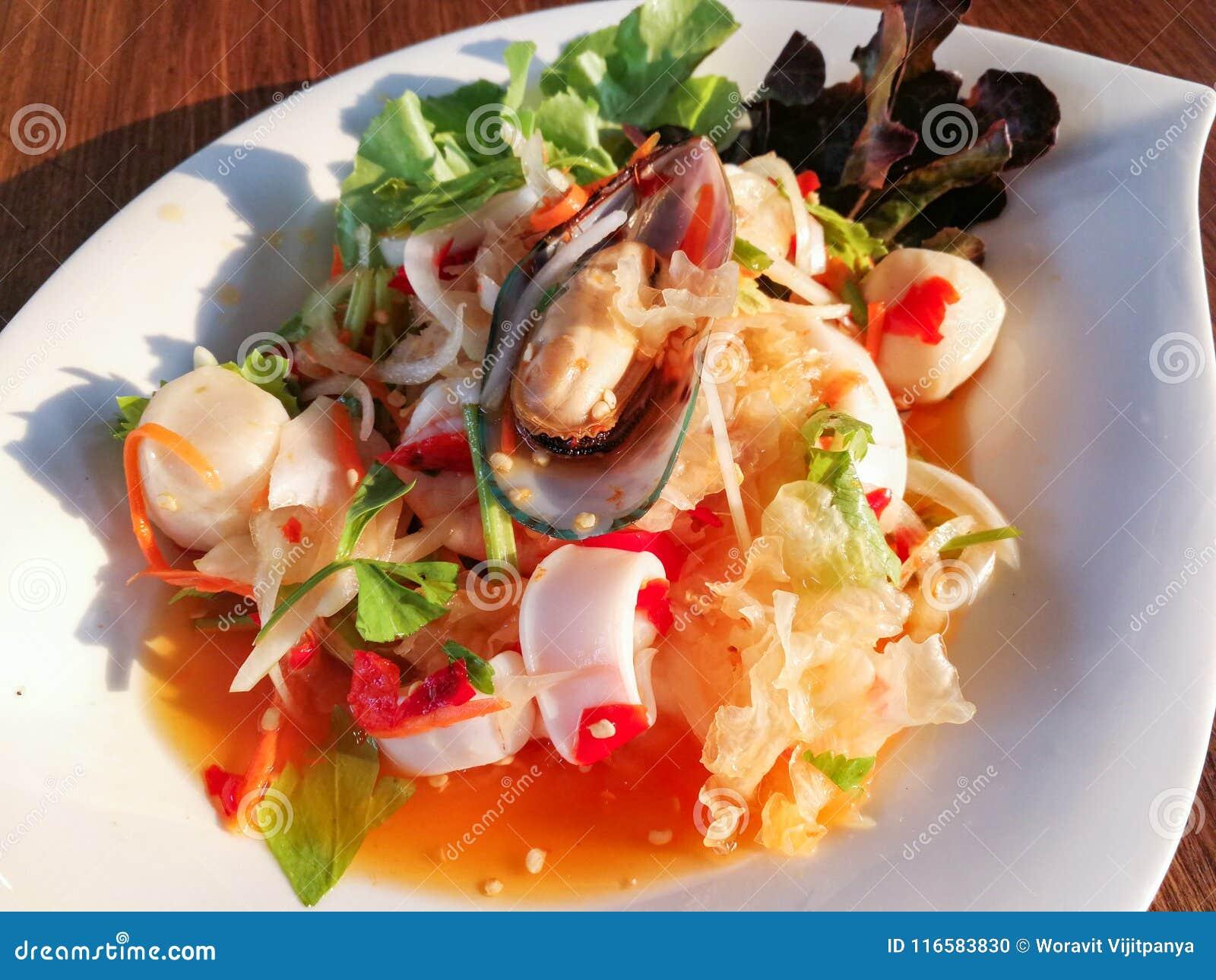 Salad Mussel Sea food