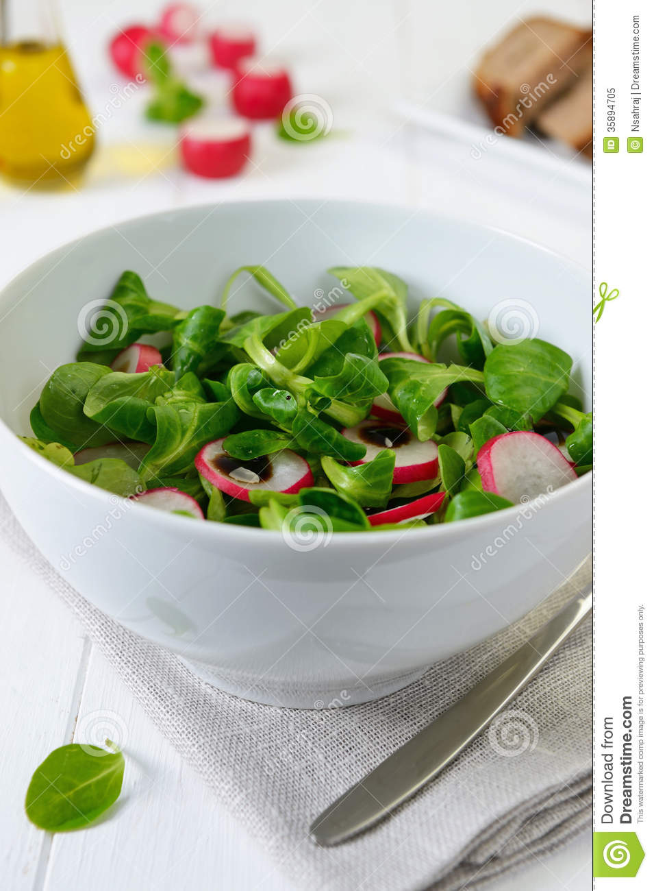 Royalty Free Stock Photo: Salad with radish
