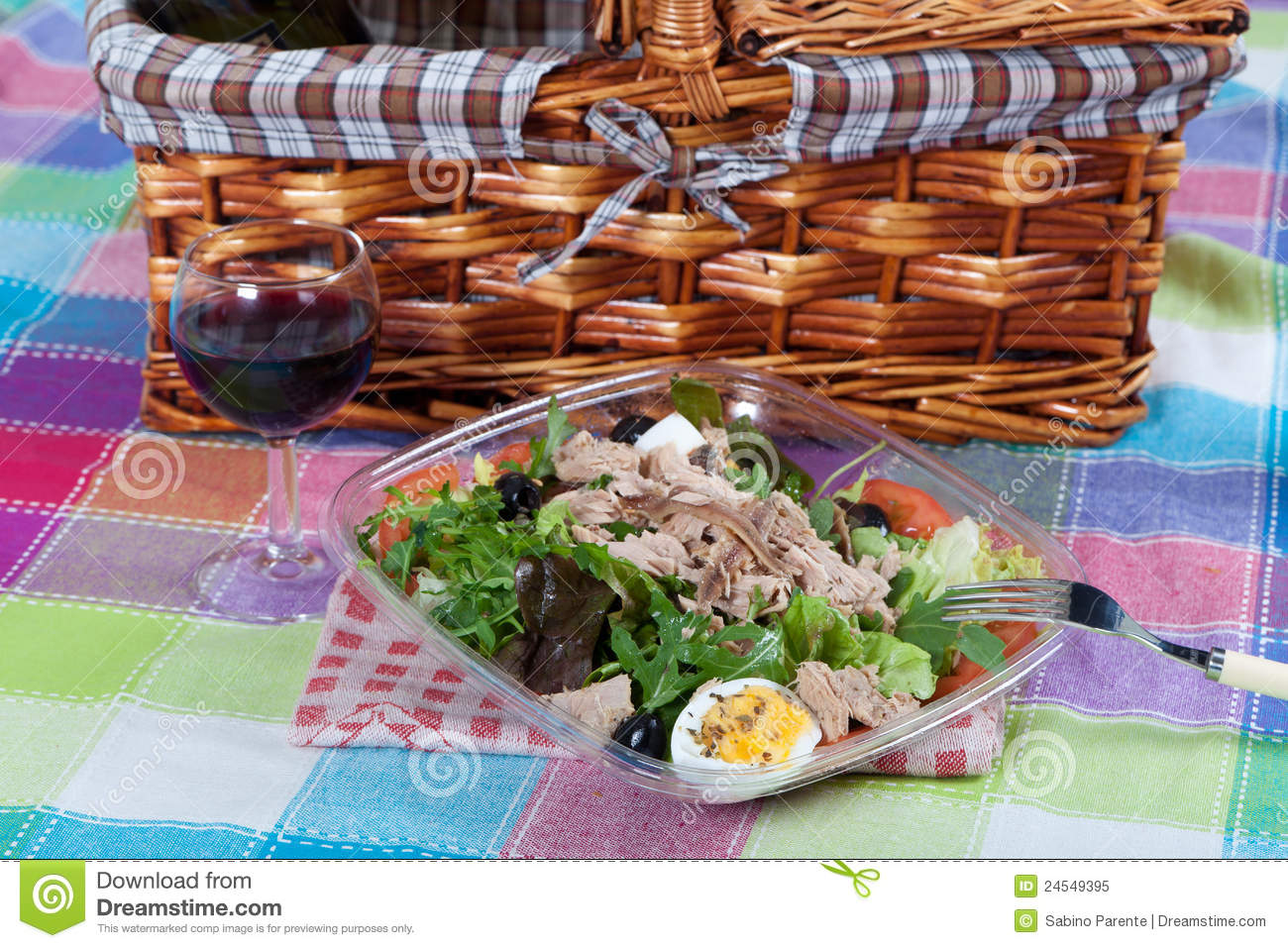 Royalty Free Stock Photo: Salad with tuna and anchovies
