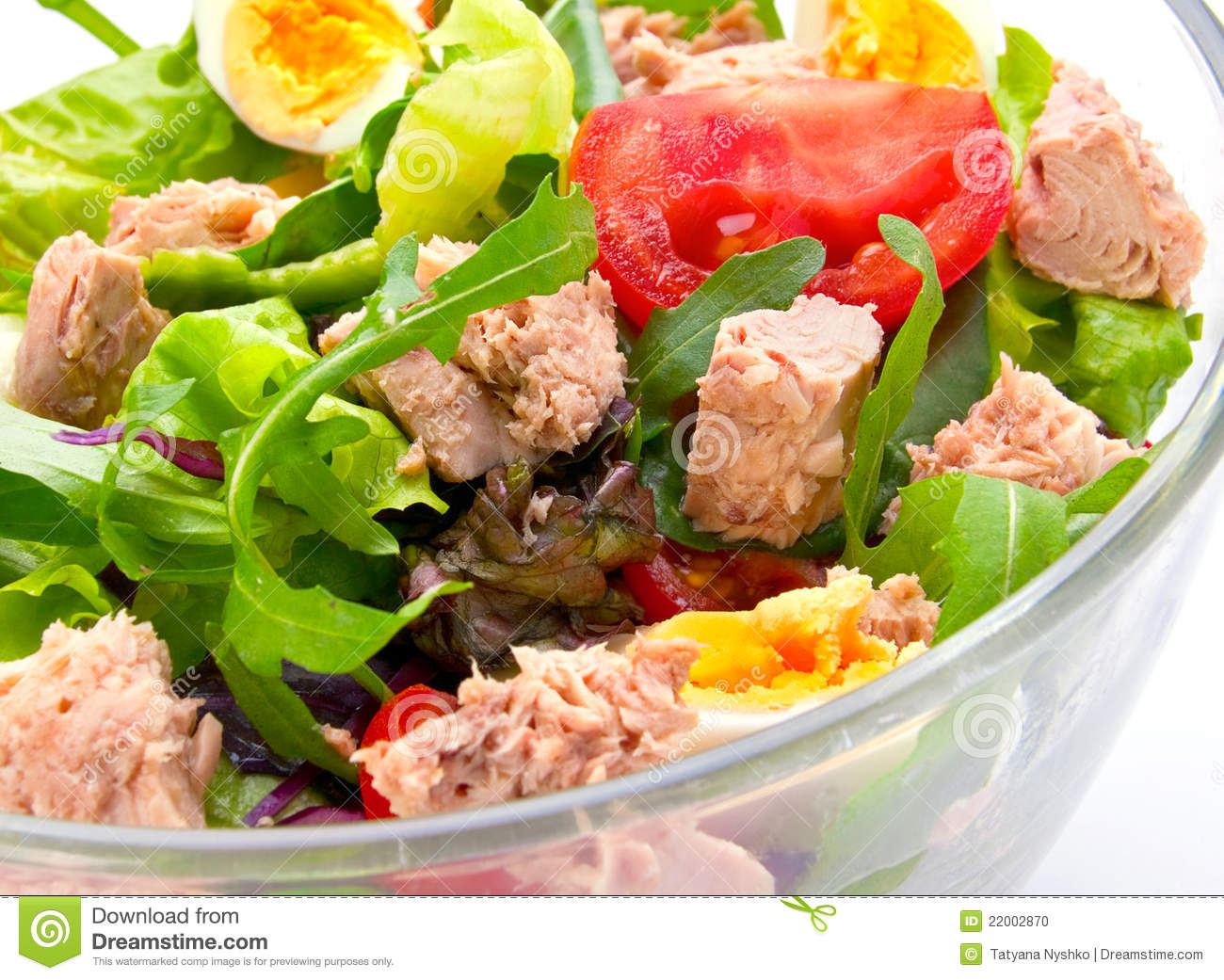 Salad with tuna fish stock photo image of image seafood for Fish and salad