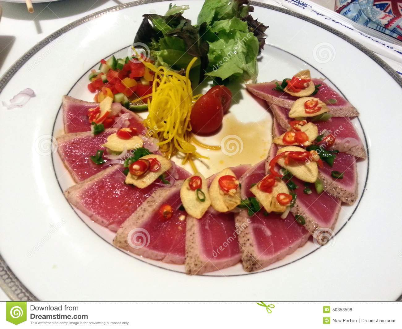 Thai tuna salad stock image 40470037 for Akane japanese fusion cuisine