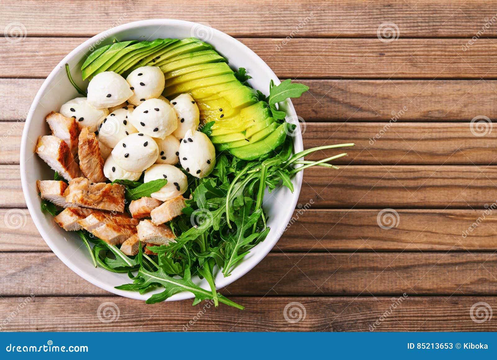 Salad with turkey