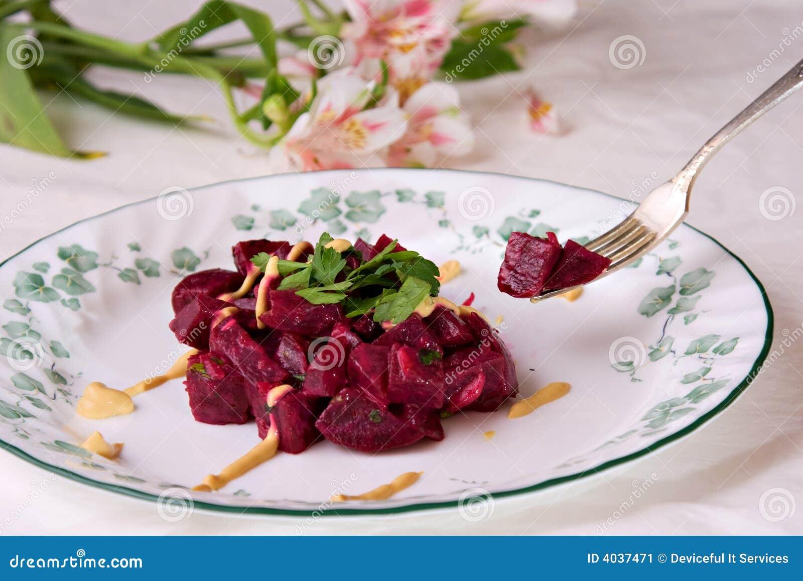 Salada das beterrabas com mostarda