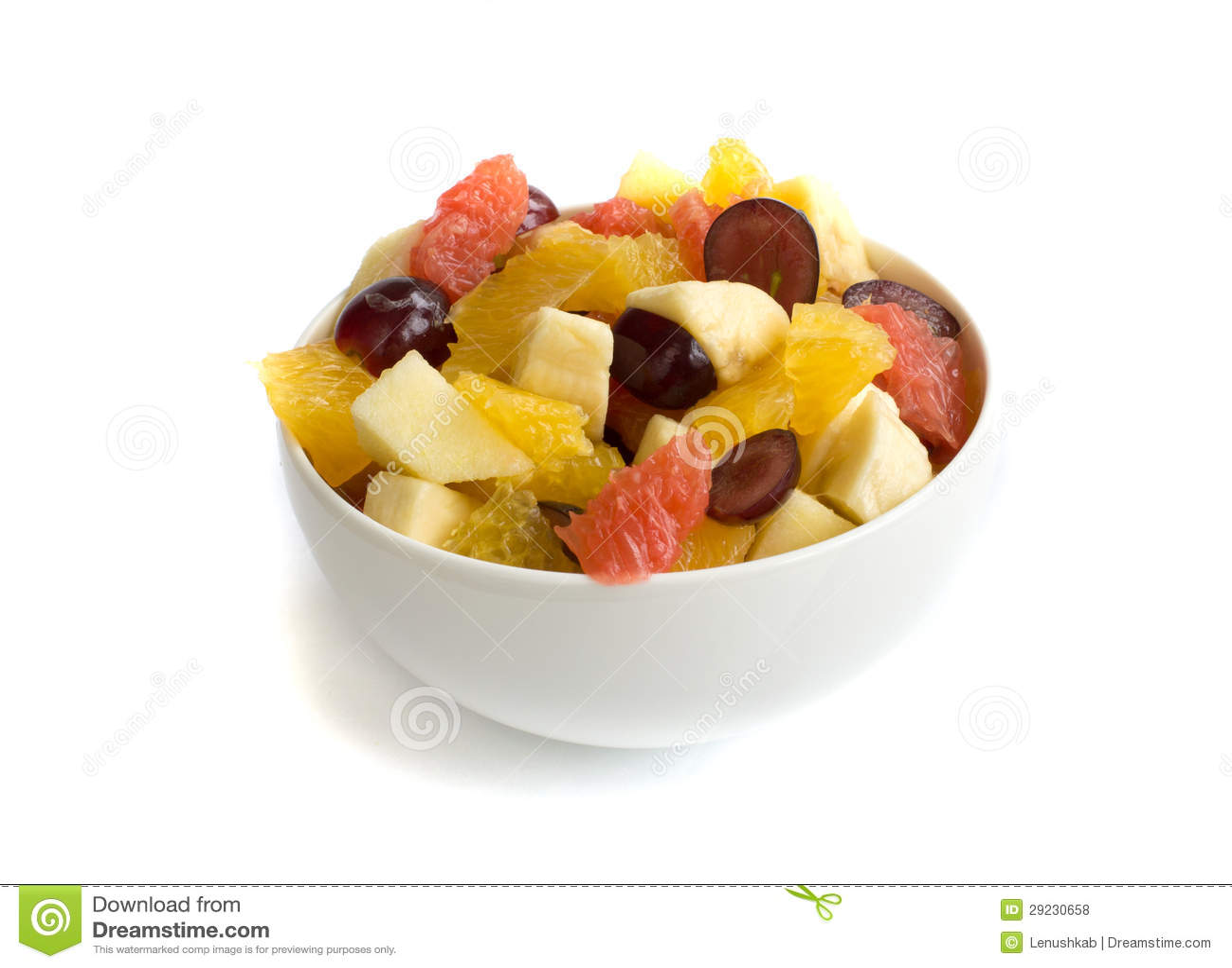 Download Salada de fruto isolada foto de stock. Imagem de maçãs - 29230658