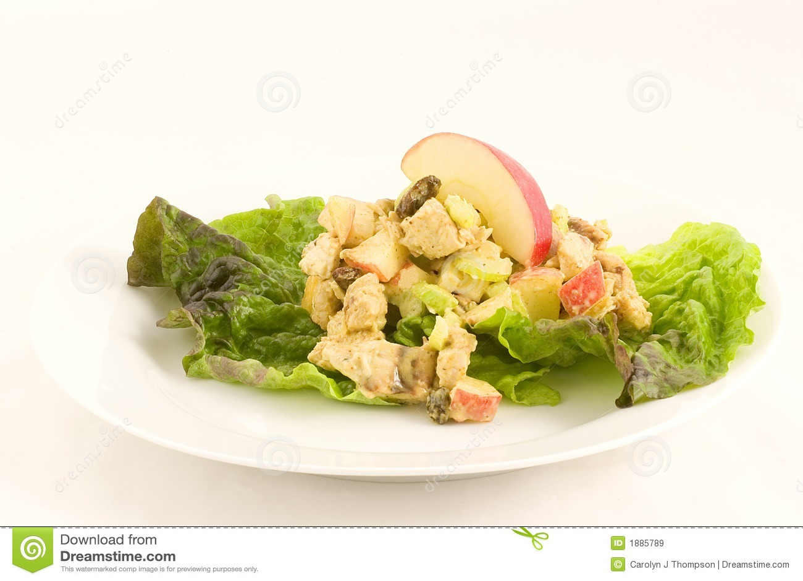 Salada do caril da galinha