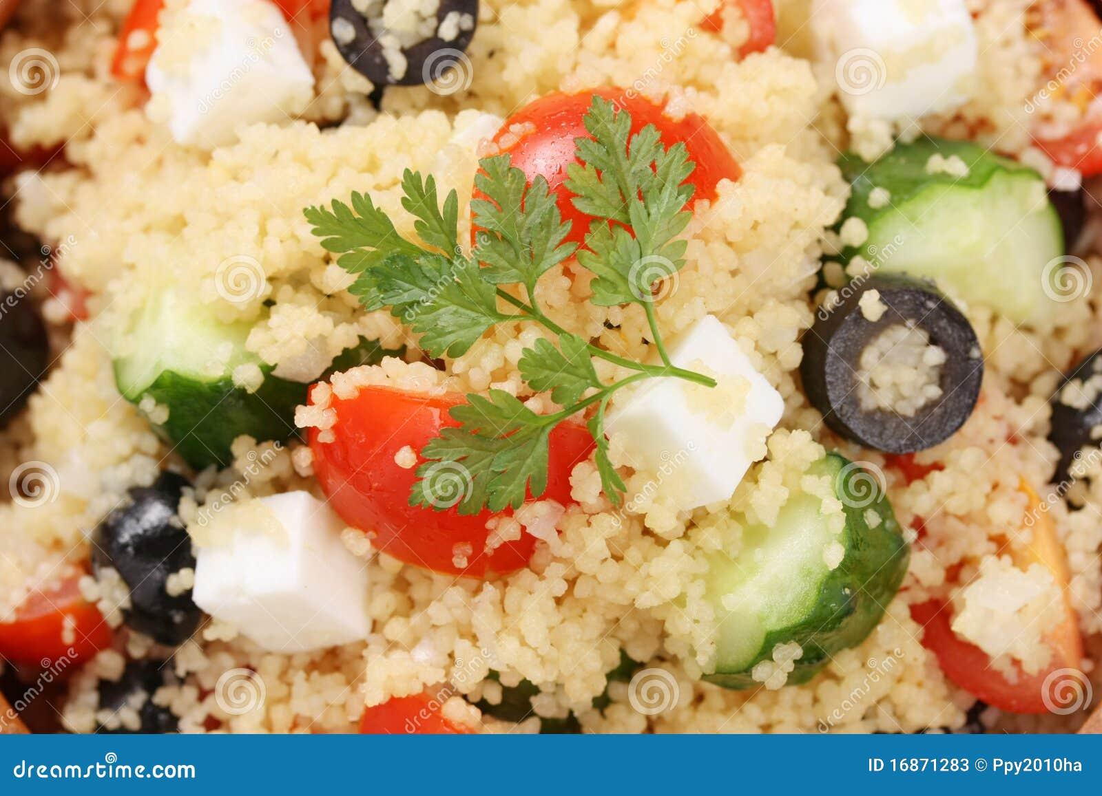 Salada do cuscuz, salada do kuskus