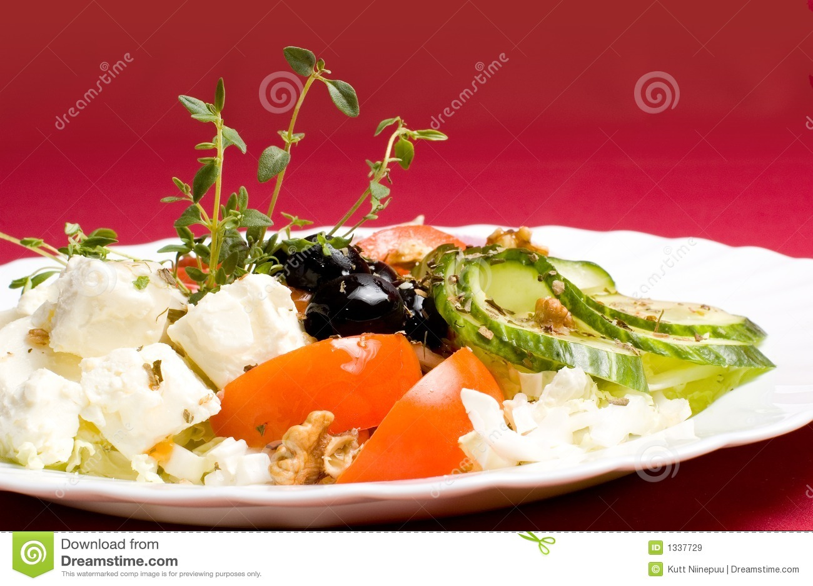Salada do Feta-queijo