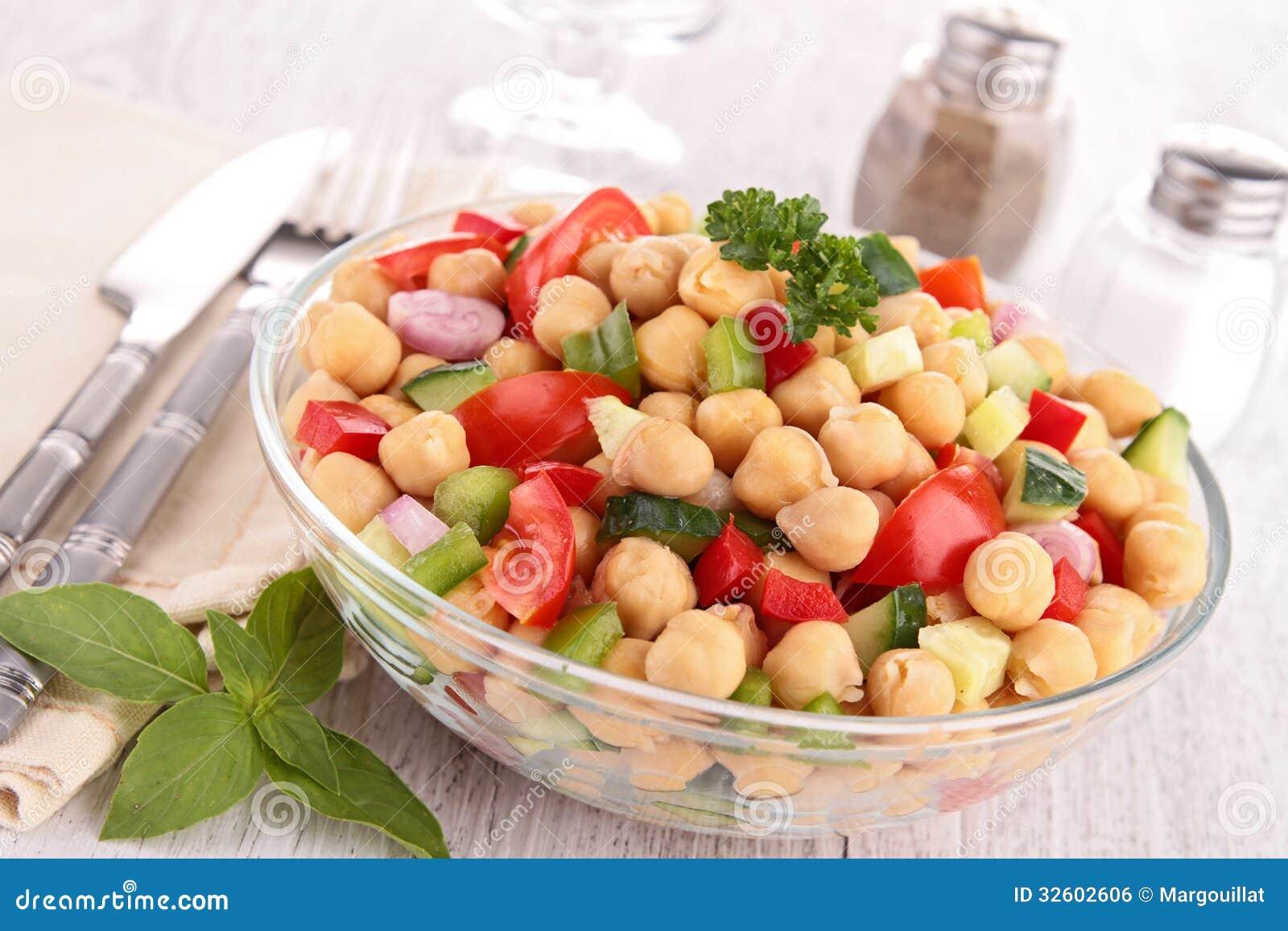 Salada do grão-de-bico