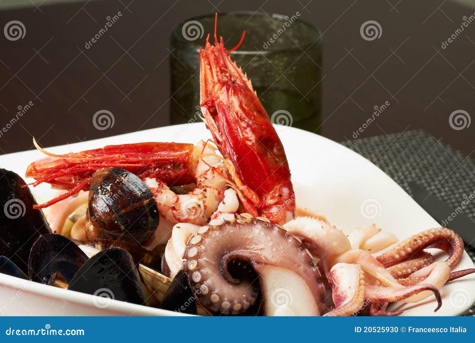 Salada do marisco