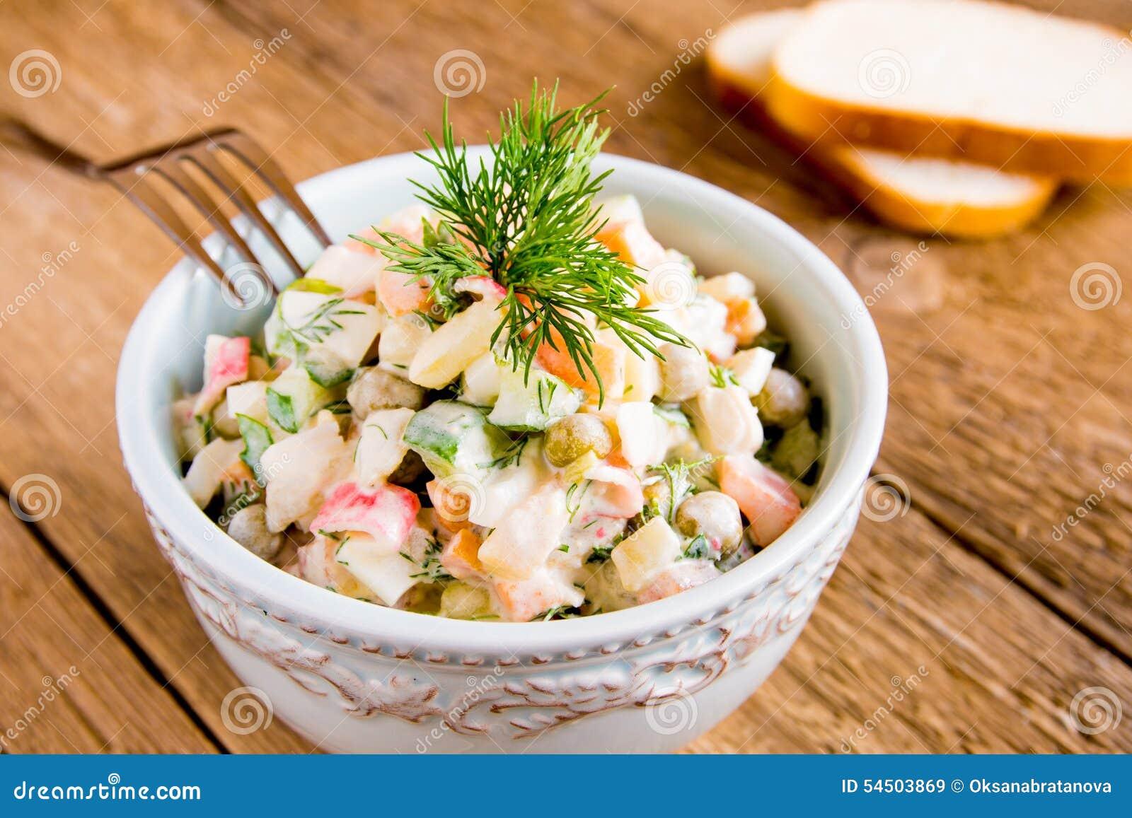 Salada do russo mais olivier