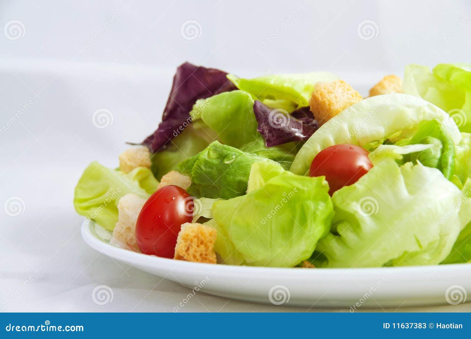 Salada fresca do jardim