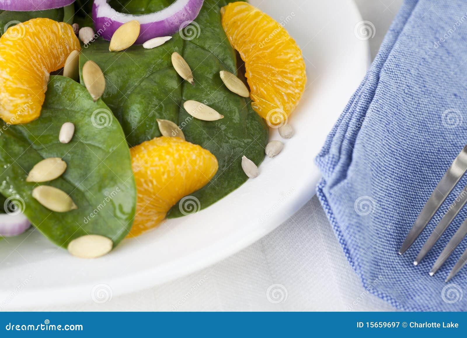 Salada II do mandarino do espinafre
