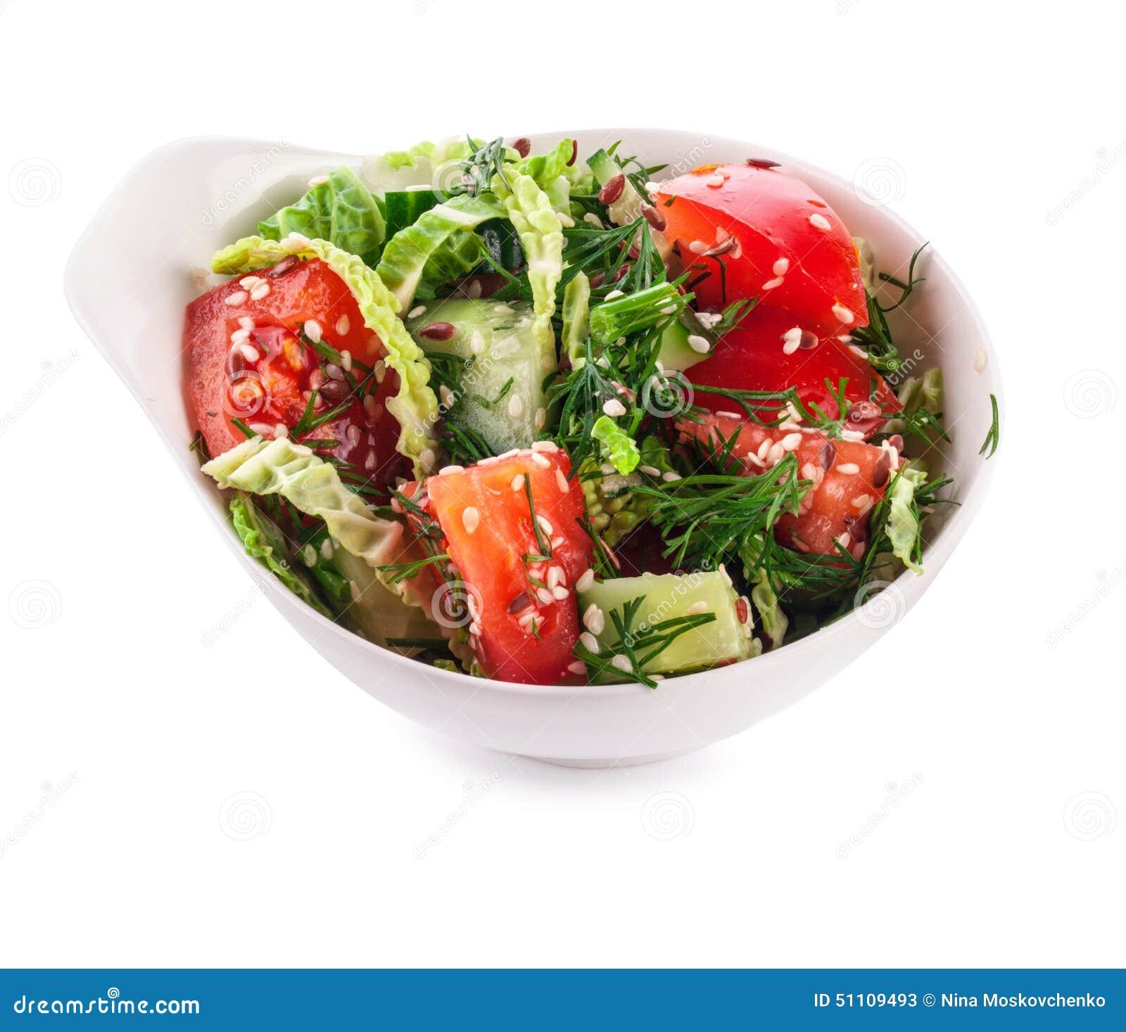 Salada na bacia branca (com trajeto de grampeamento)