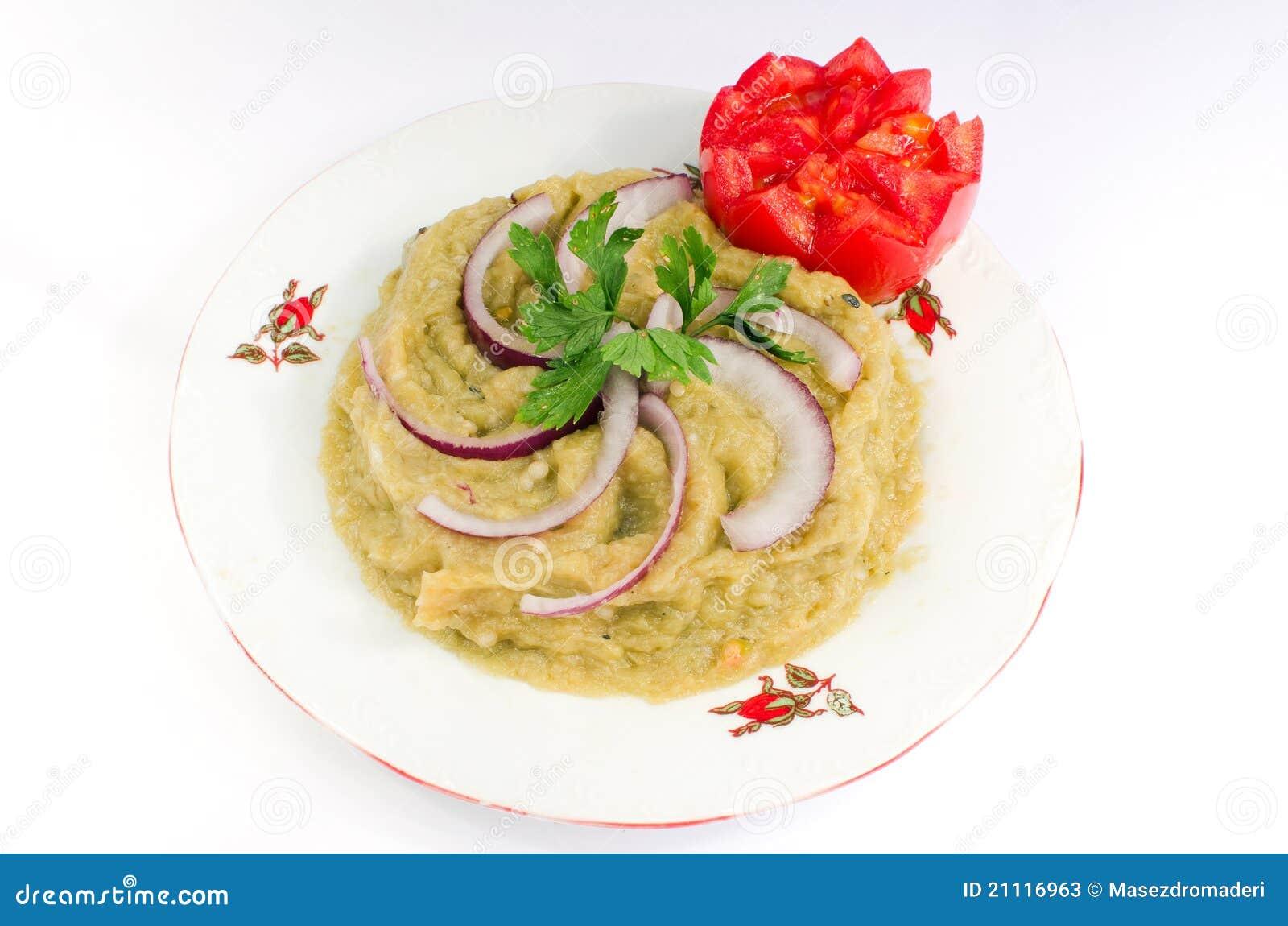 Salade d 39 aubergine cuisine roumaine image stock image for Aubergine cuisine