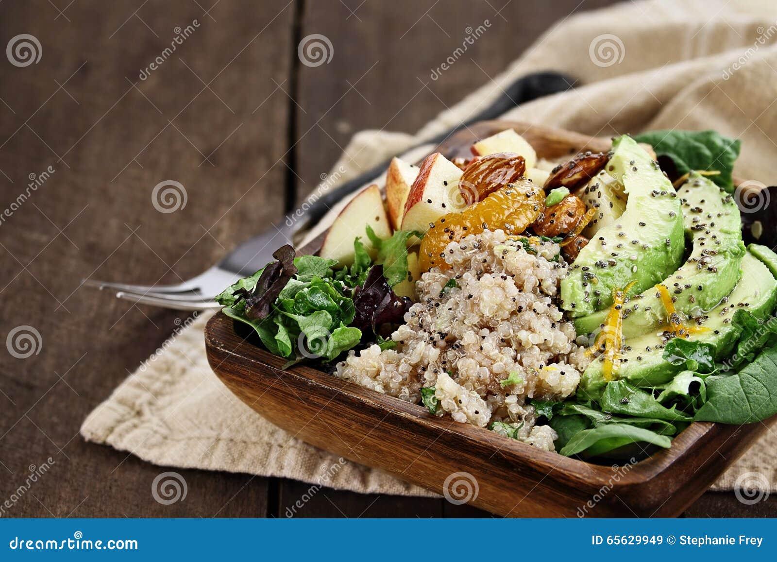 Salade d avocat et de quinoa