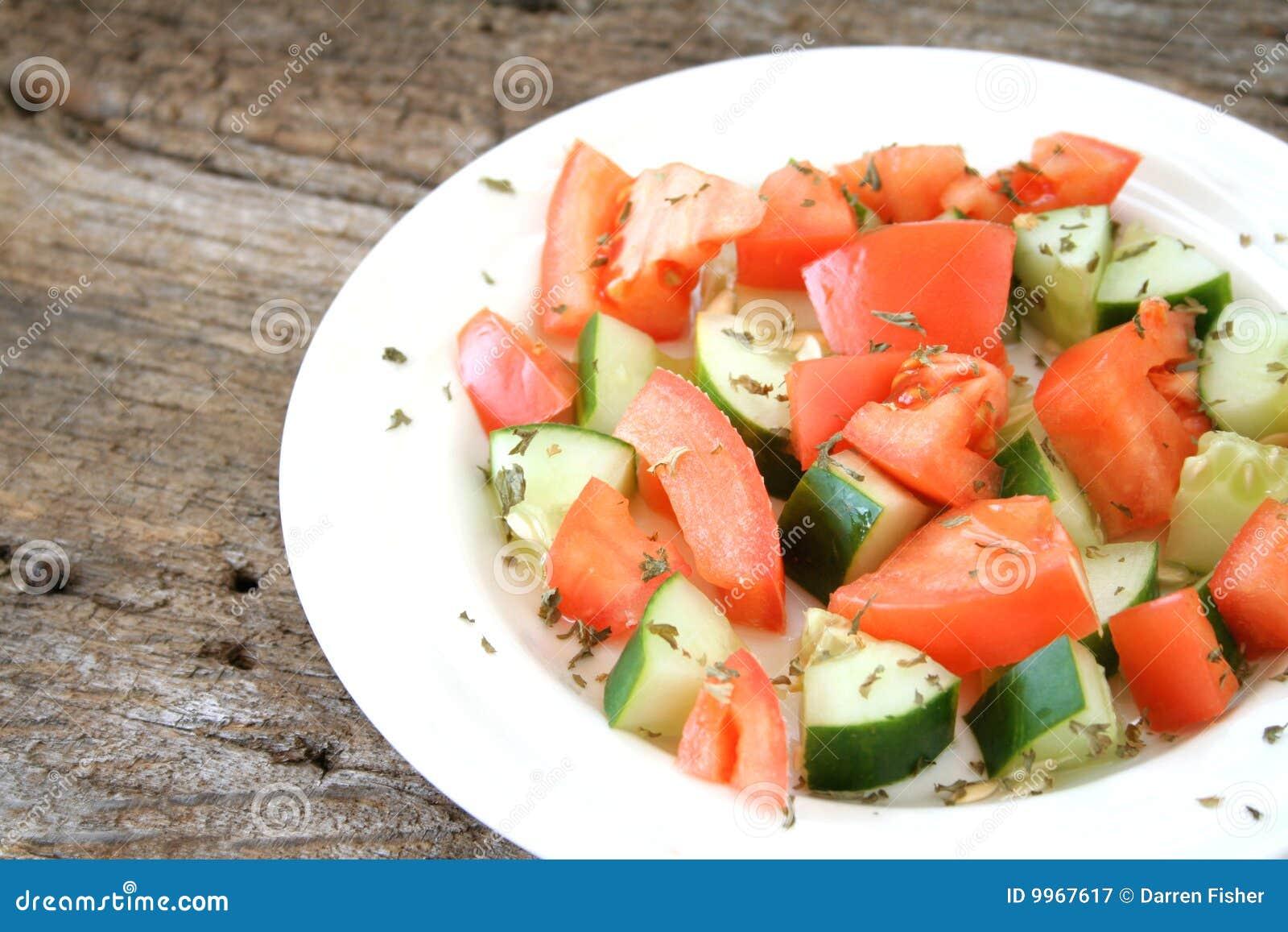 Salade de concombre de tomate