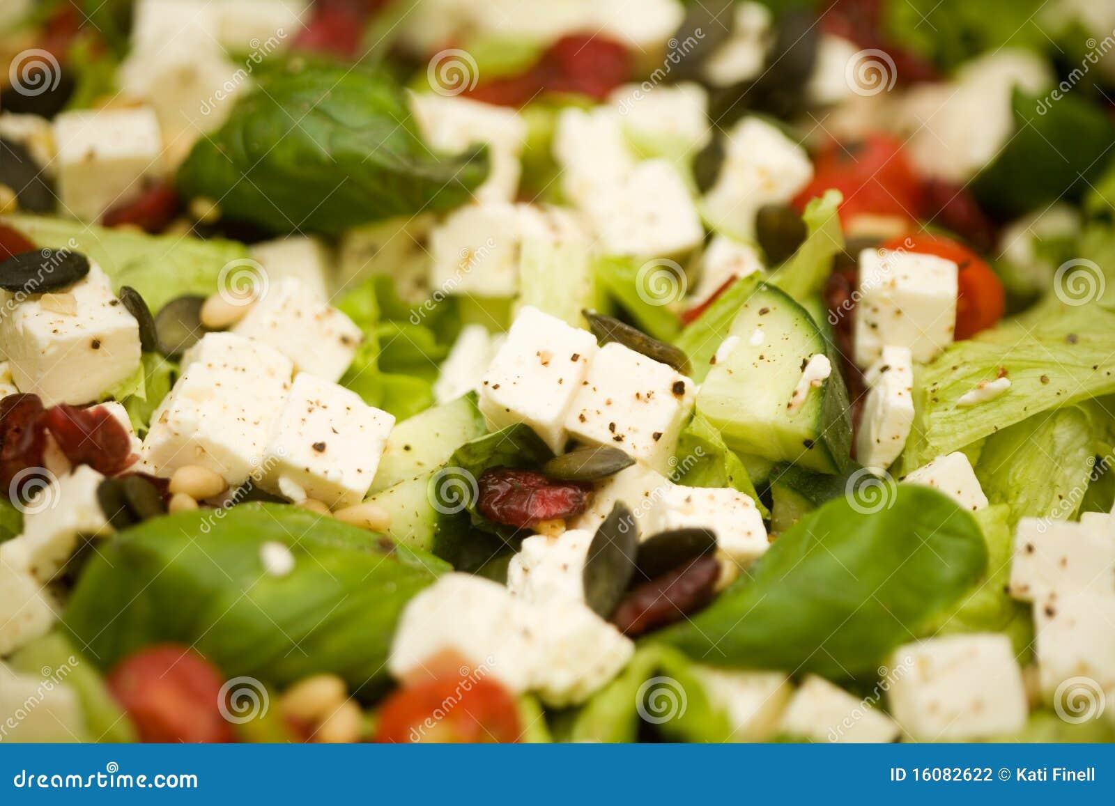 Salade de feta photo stock image du cuisine assiette for Vers de salade