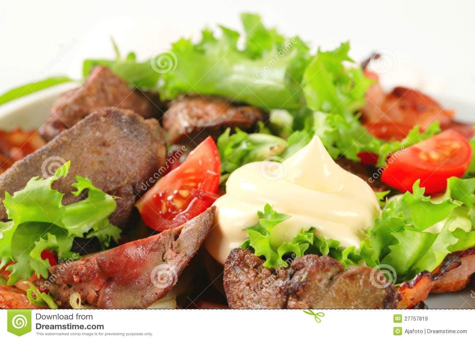 Salade de foie de poulet