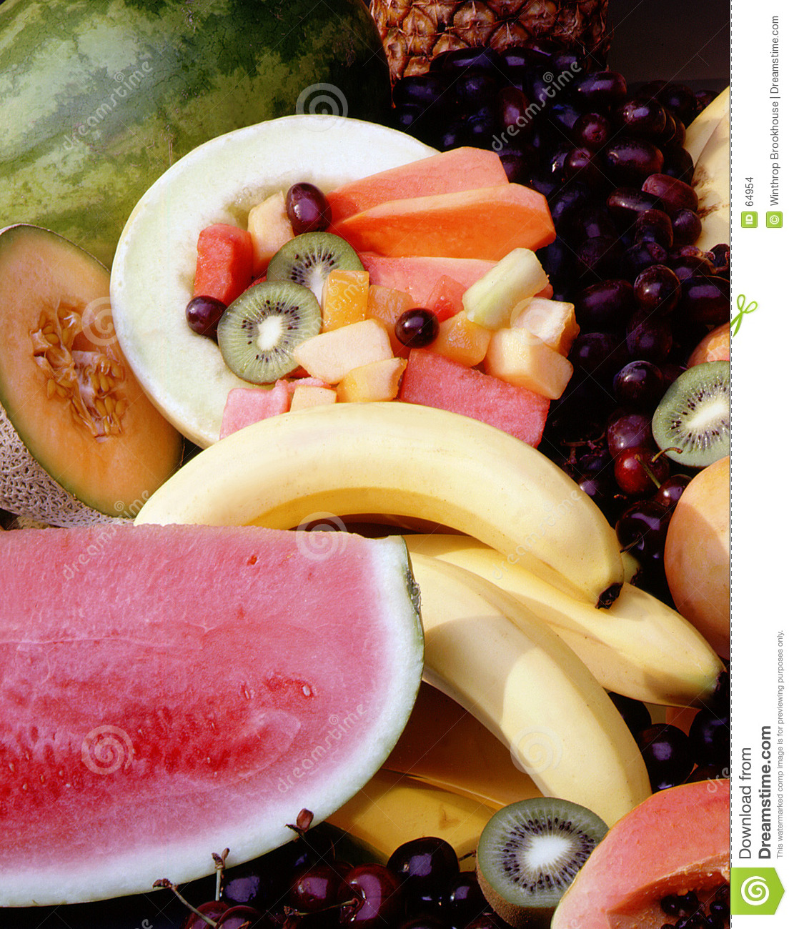 Download Salade de fruits photo stock. Image du produit, salade, générosité - 64954