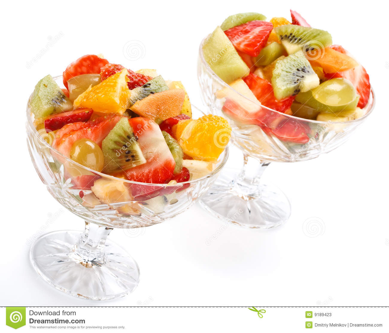 Salade de fruits photos stock image 9189423 for Vers des salades