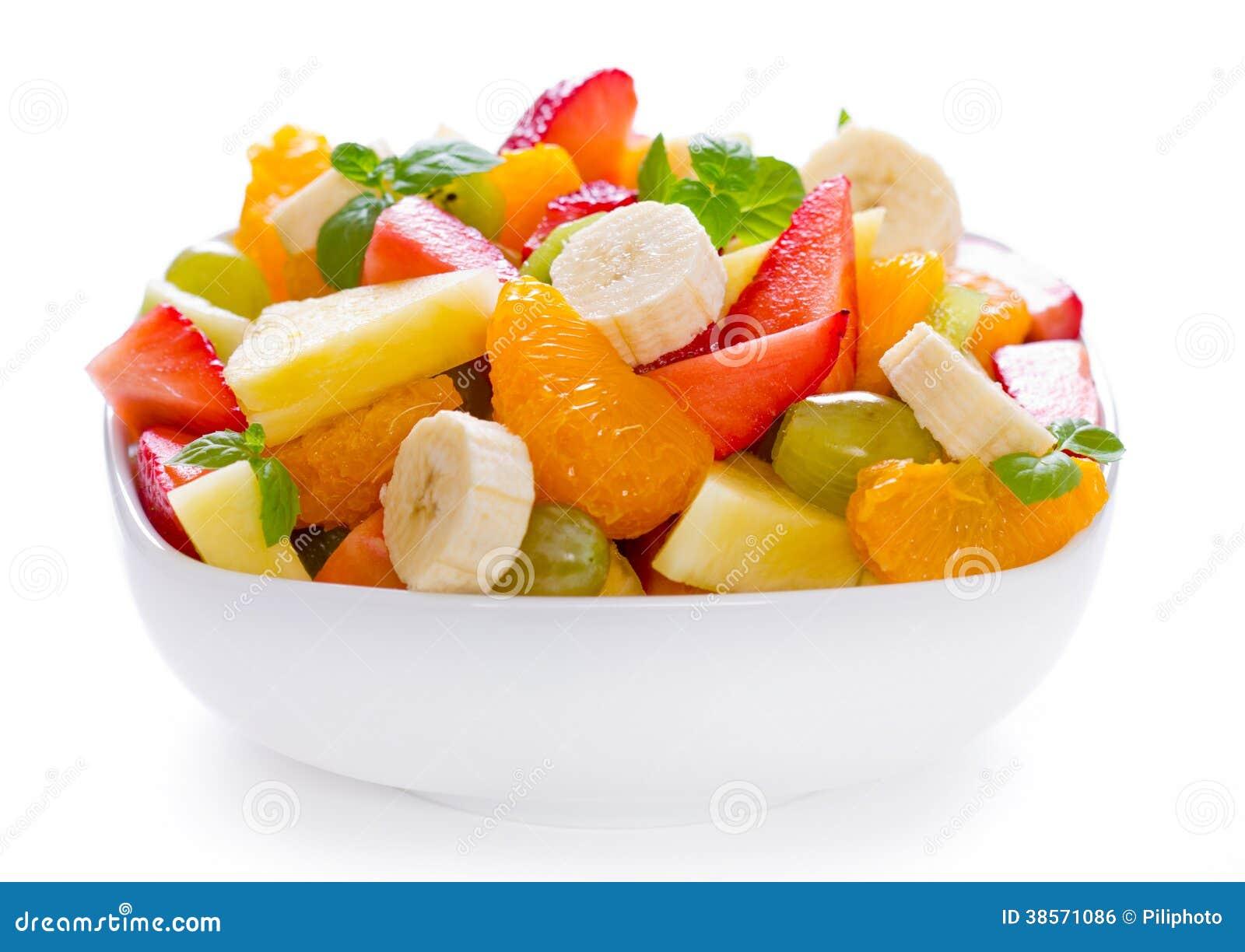 Salade de fruits dans la cuvette