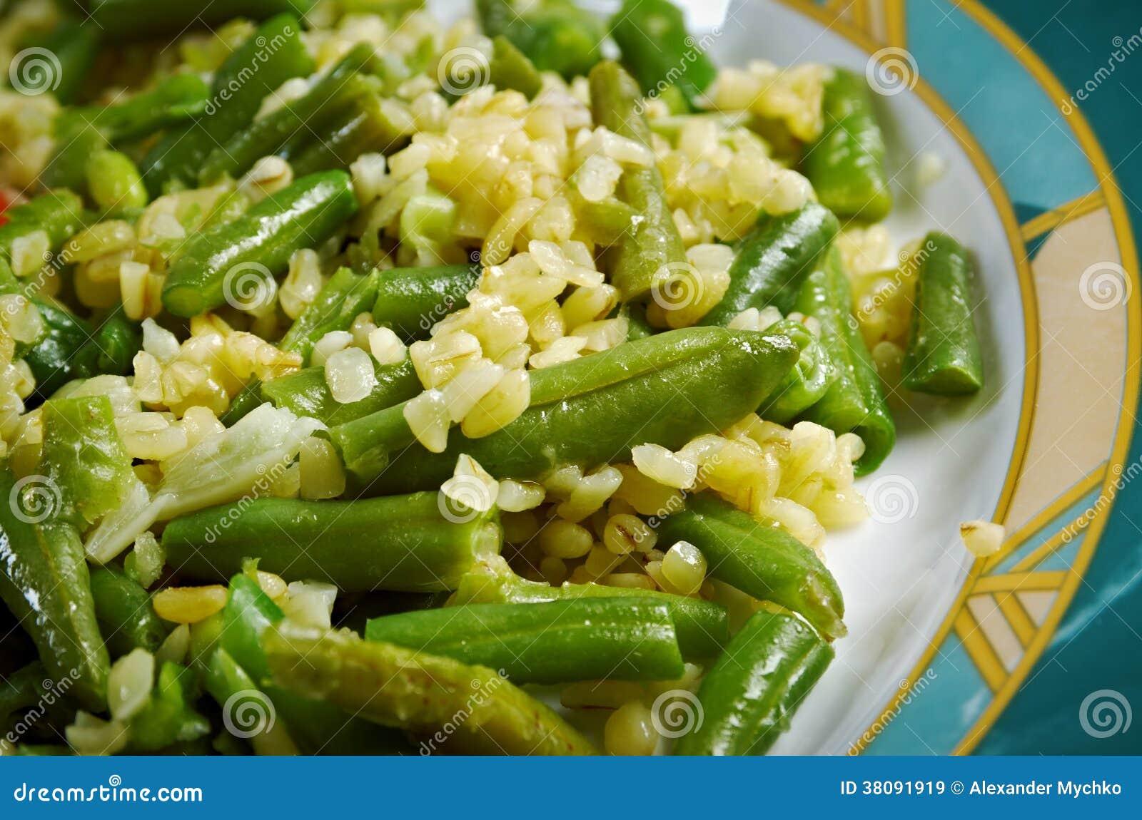 salade de haricots verts images libres de droits image 38091919. Black Bedroom Furniture Sets. Home Design Ideas