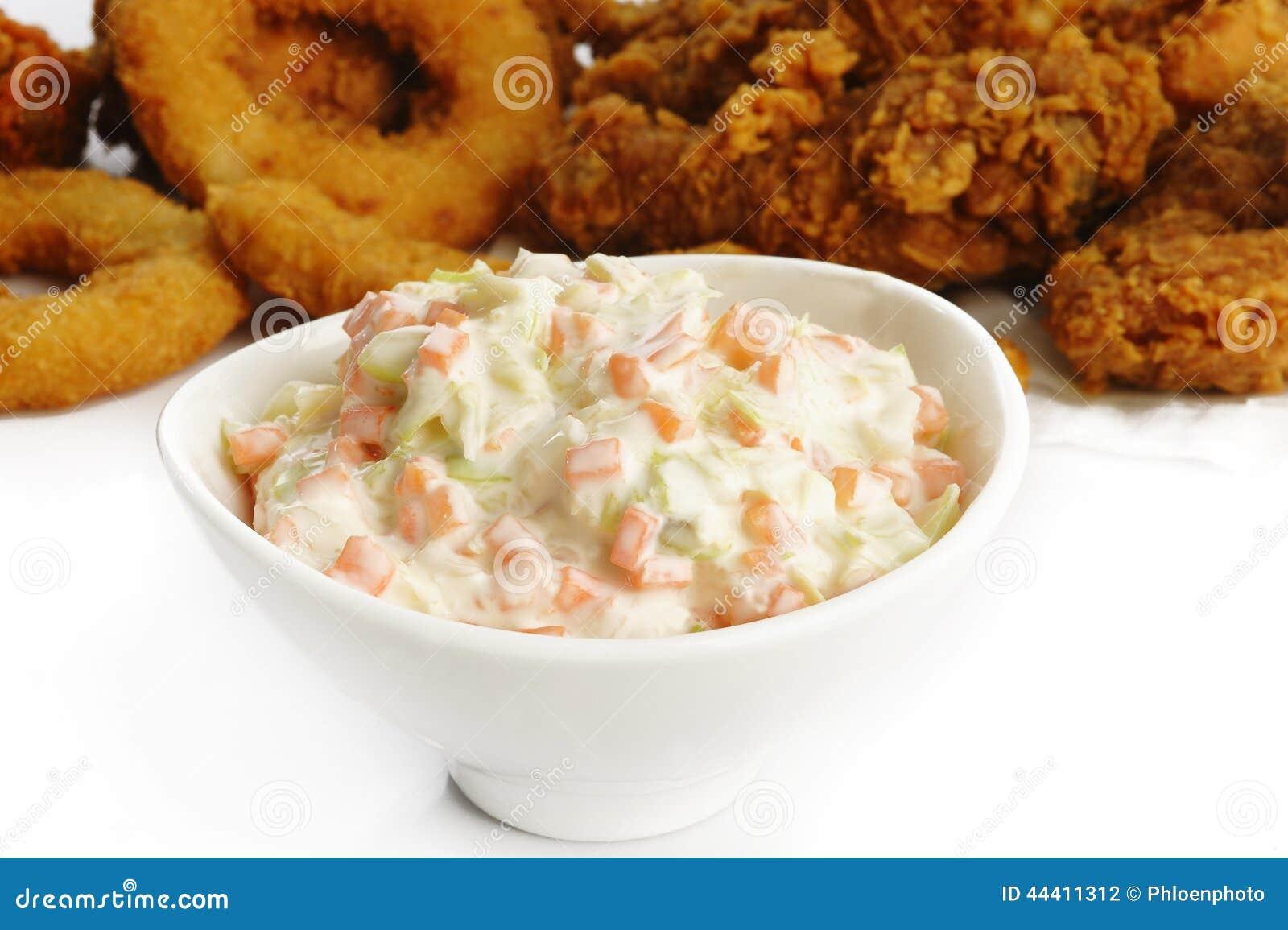 Salade de salade de choux dans la cuvette