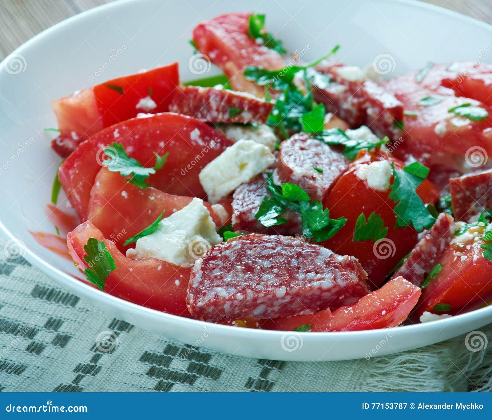 Salade de tomate de chorizo