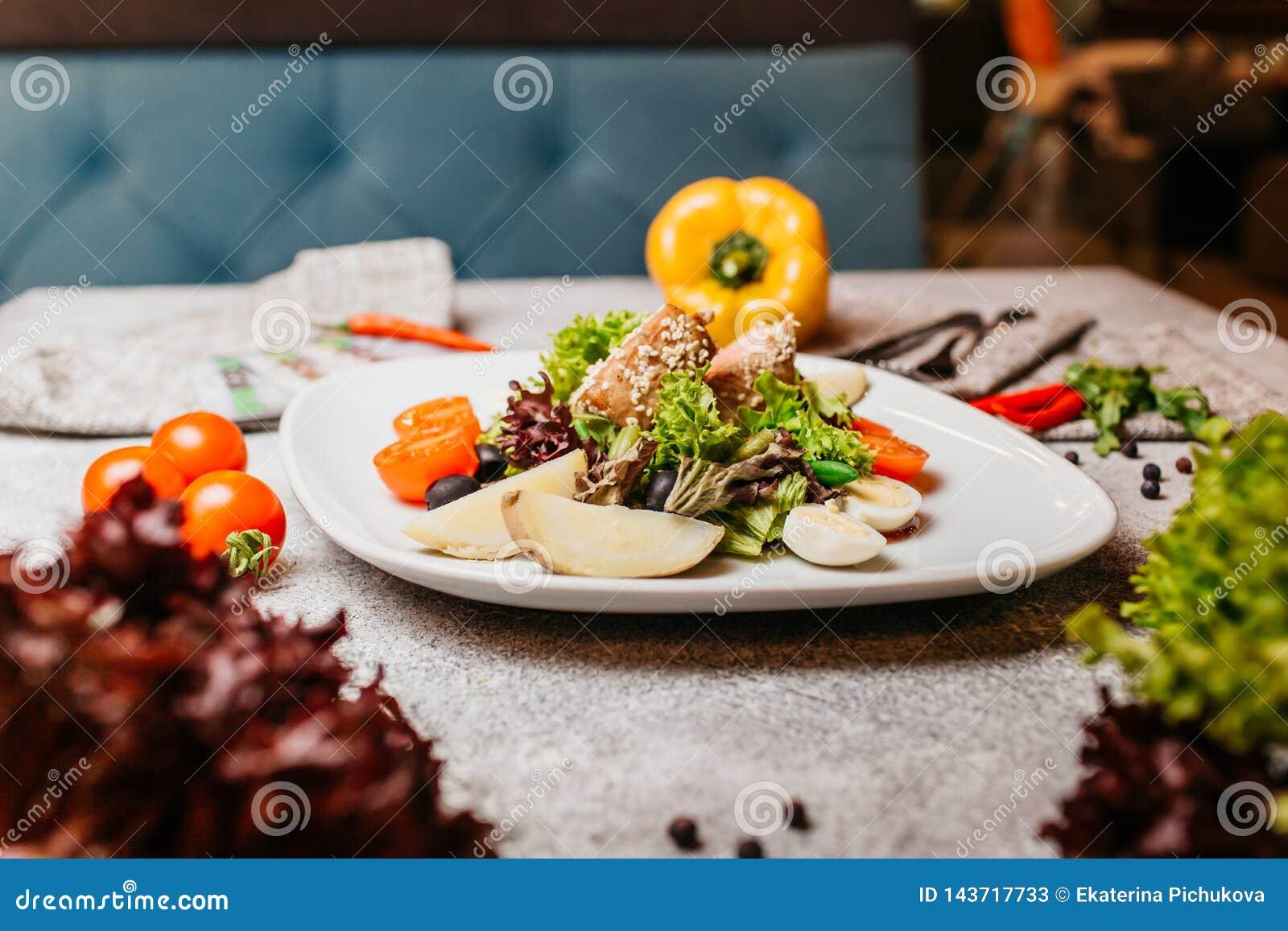 Salade de viande avec des l?gumes