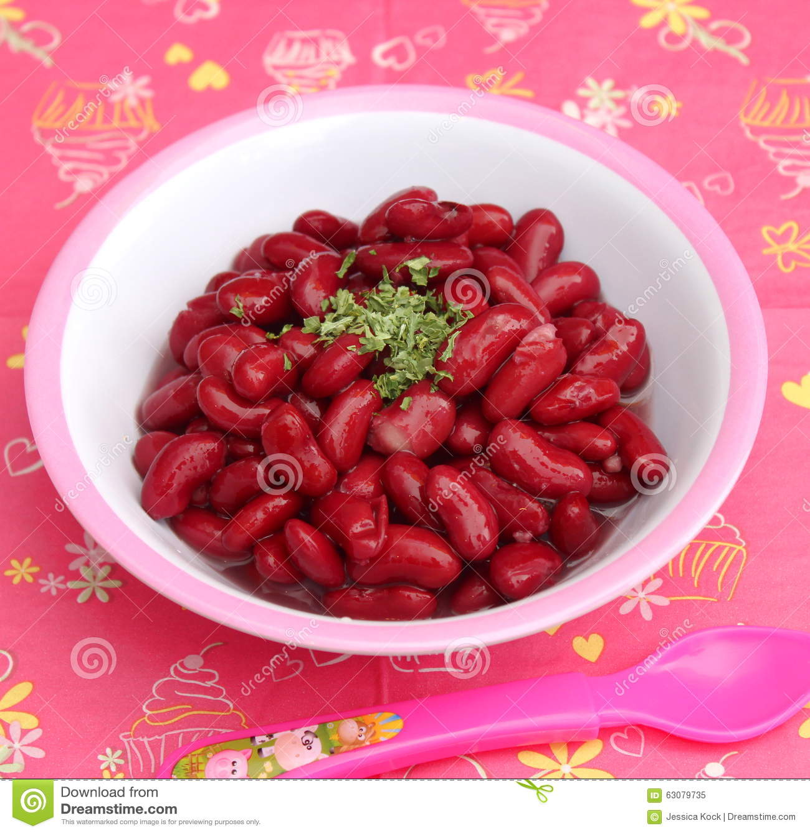 Download Salade des haricots image stock. Image du végétarien - 63079735