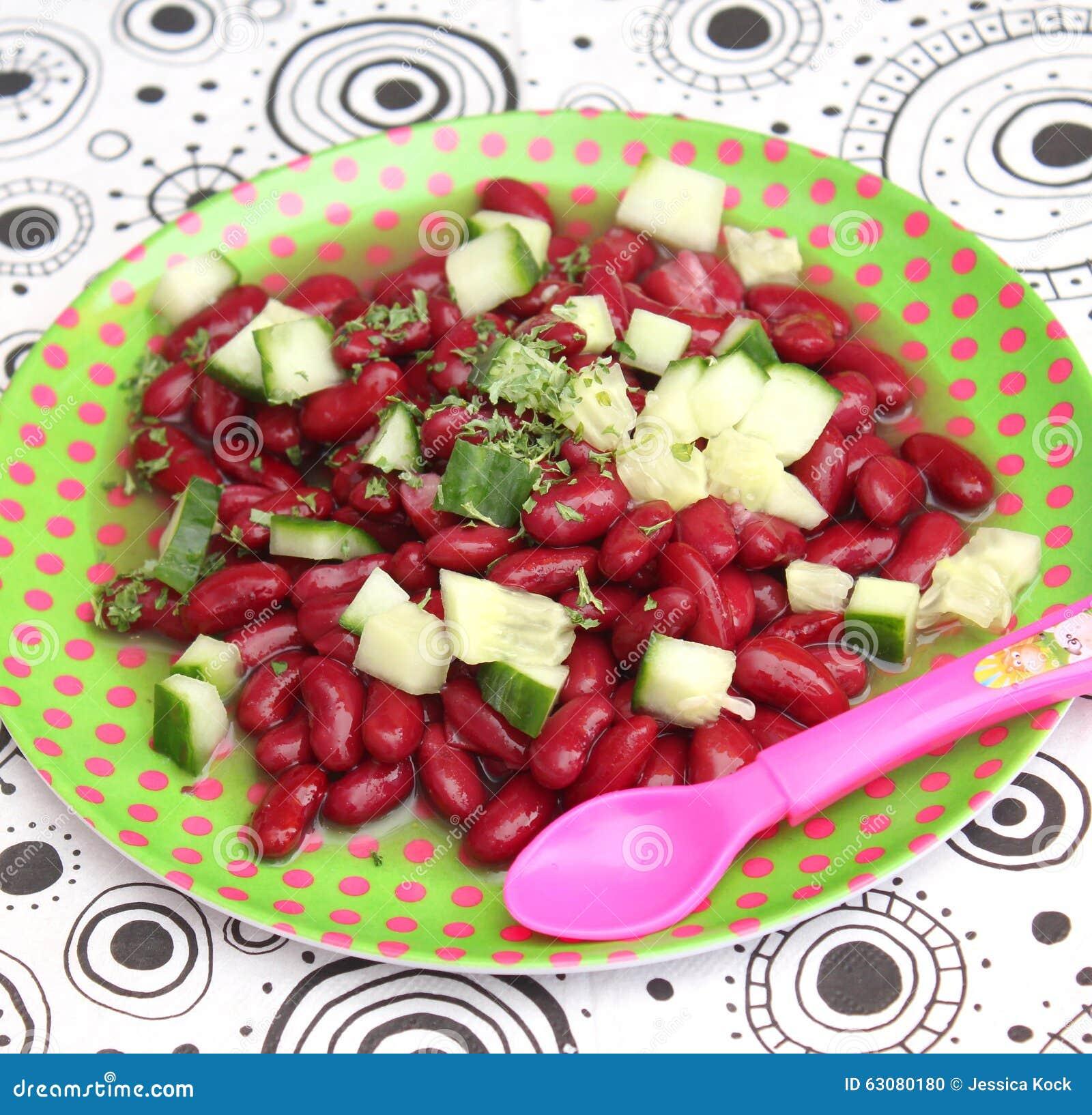 Download Salade des haricots photo stock. Image du secouez, nourriture - 63080180