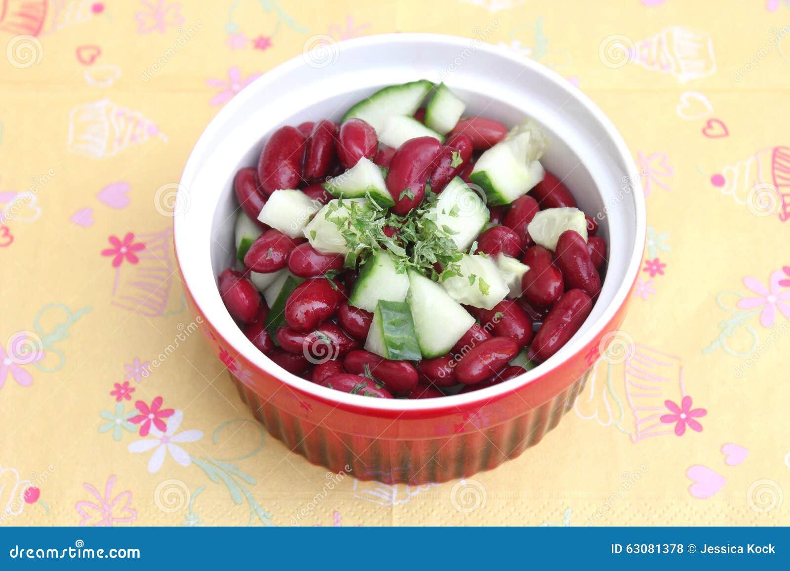 Download Salade des haricots photo stock. Image du végétarien - 63081378