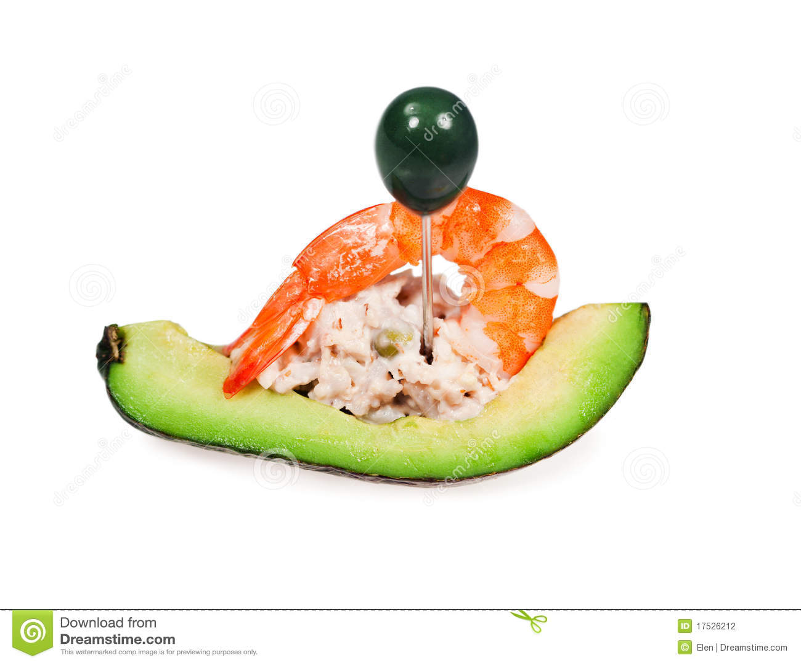 Salade Des Légumes Avec La Crevette Photographie stock