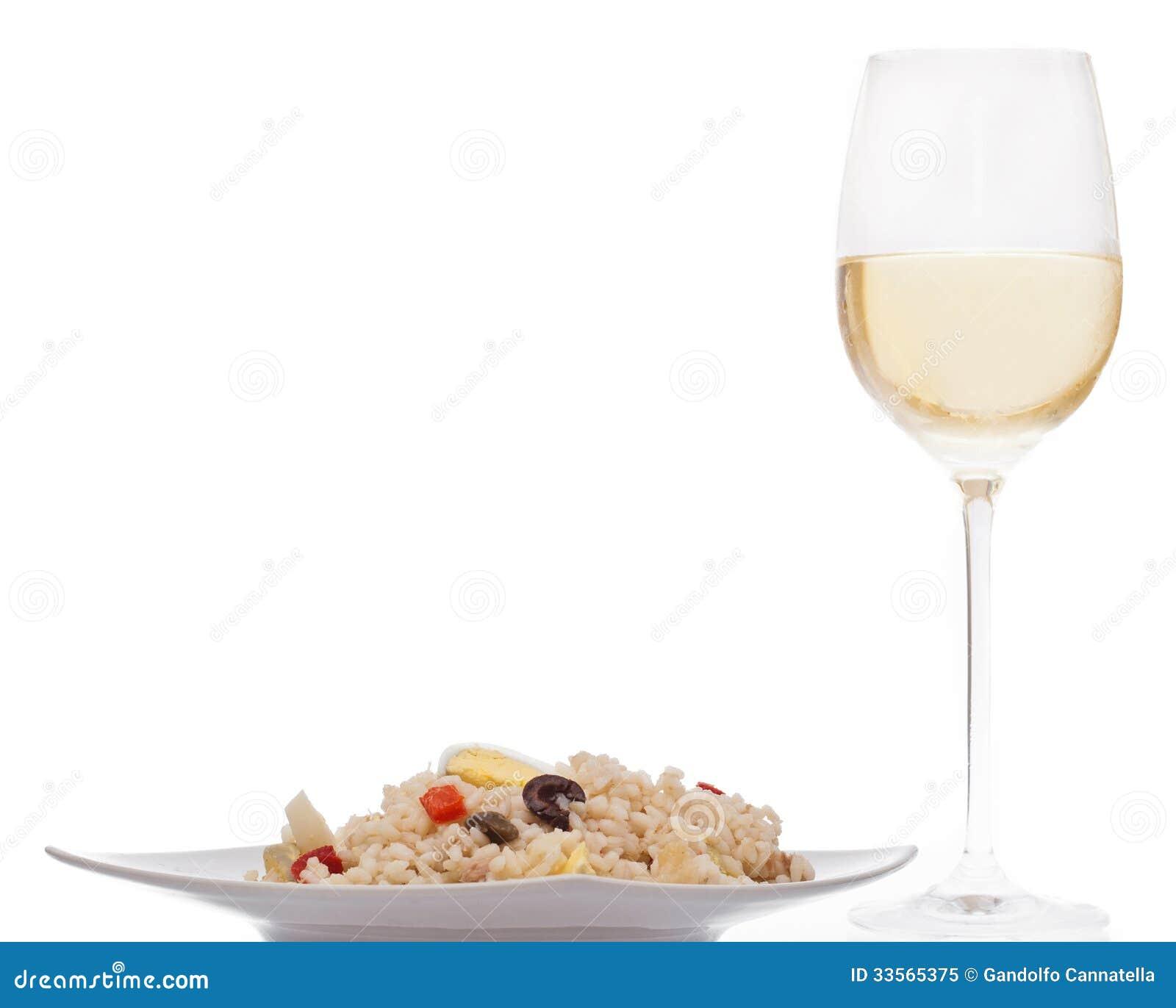 Salade et vin de riz