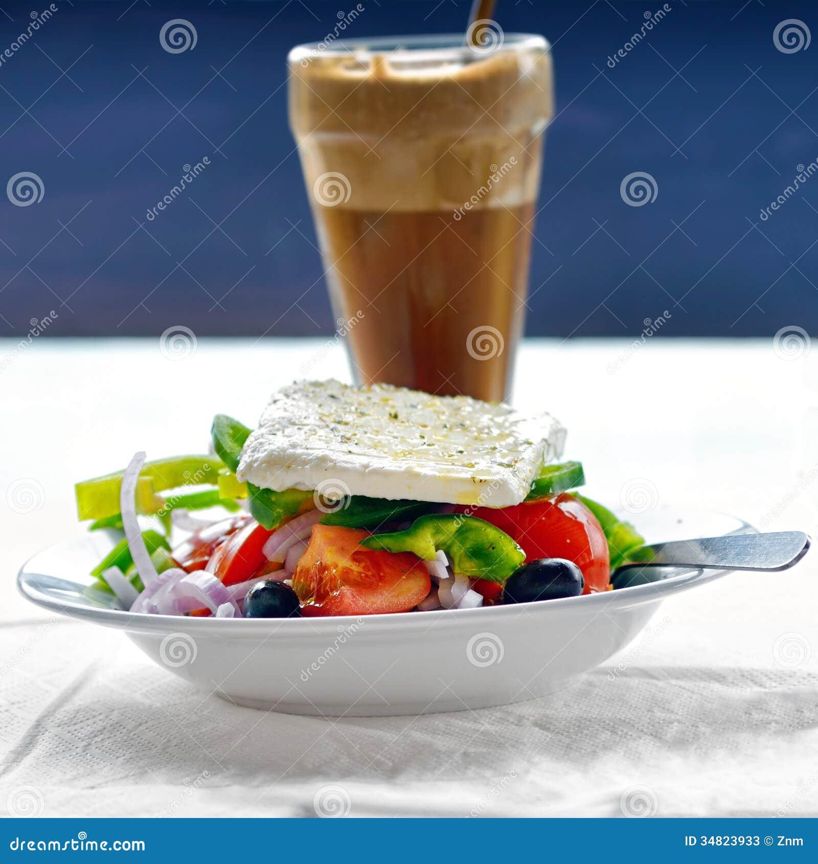 Salade grecque photos stock image 34823933 - Cuisine grecque traditionnelle ...