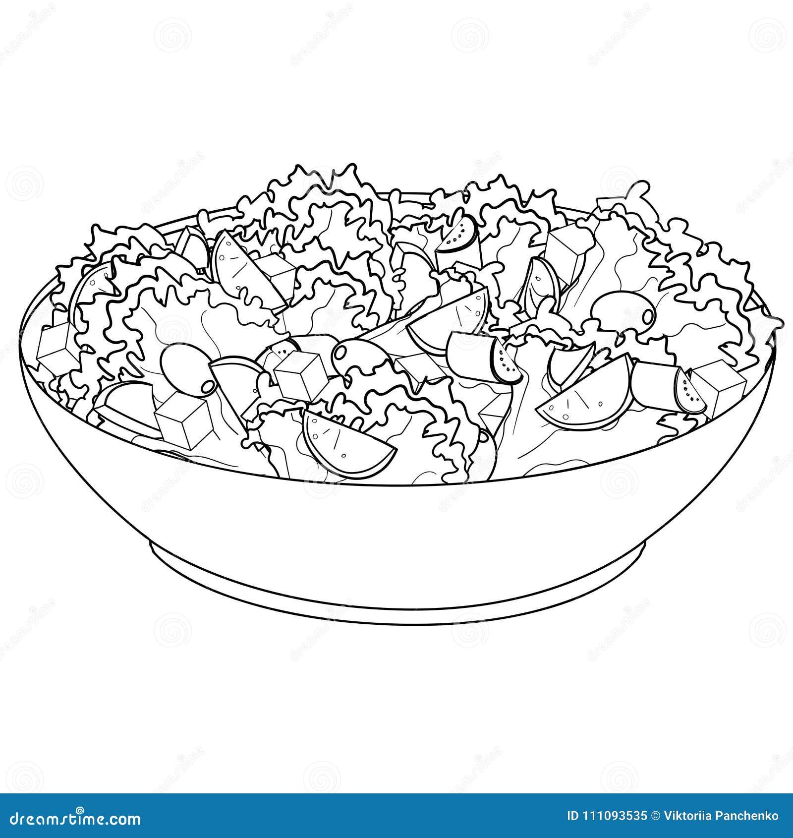 Salade Coloriage Dessin D Une Salade Marnfozine Com