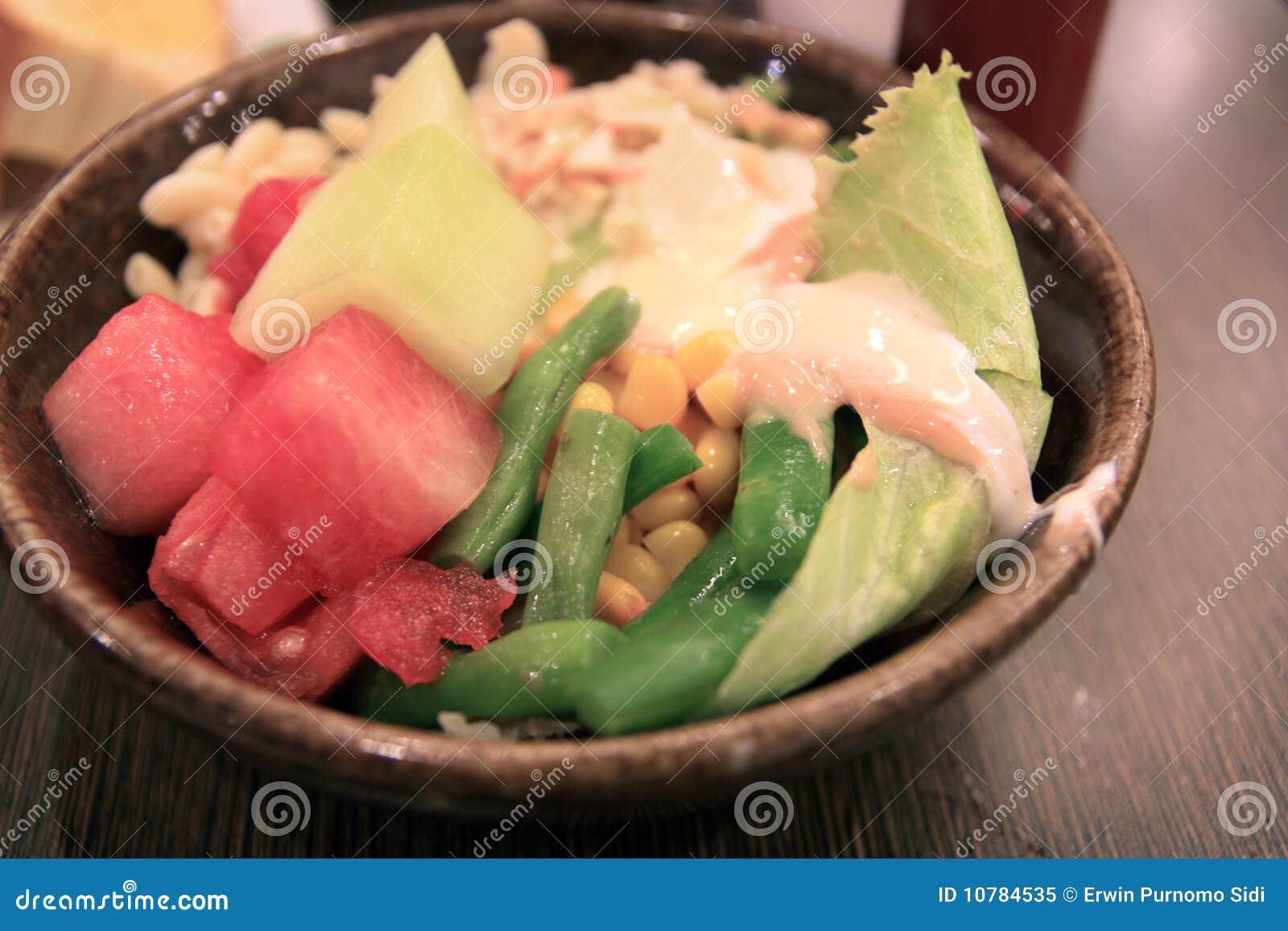 Salade in kom